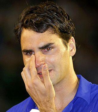 Federer, desolado